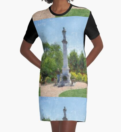 Confederate Monument in Franklin, NC Graphic T-Shirt Dress