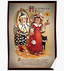 Halloween Tricks or Treats Mirror Poster
