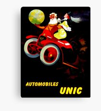 """UNIC AUTOMOBILES"" Vintage Advertising Print Canvas Print"