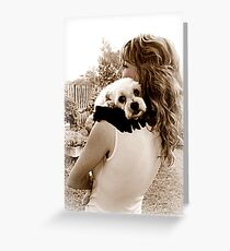Unconditional Puppy Love Greeting Card