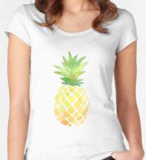 Camiseta entallada de cuello redondo Impresión de piña
