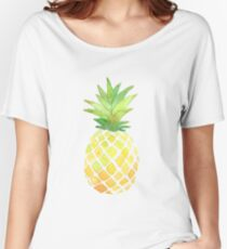 Pineapple Print  Women's Relaxed Fit T-Shirt