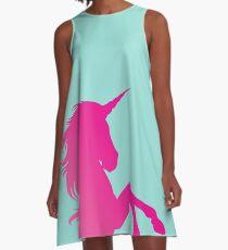 Pink & Teal Unicorn A-Line Dress