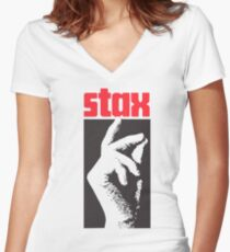Stax Records Women's Fitted V-Neck T-Shirt