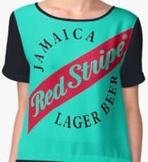 Jamaica Red Stripe Lager Beer Women's Chiffon Top