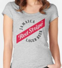 Jamaica Red Stripe Lager Beer Women's Fitted Scoop T-Shirt