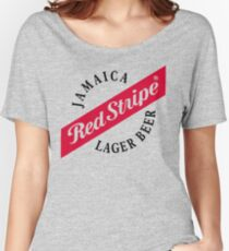 Jamaica Red Stripe Lager Beer Women's Relaxed Fit T-Shirt