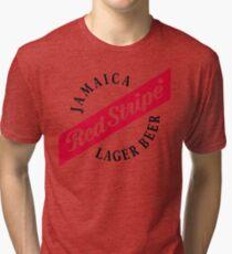 Jamaica Red Stripe Lager Beer Tri-blend T-Shirt