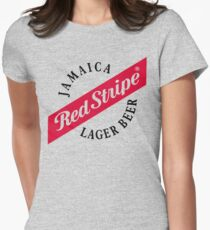Jamaica Red Stripe Lager Beer Womens Fitted T-Shirt