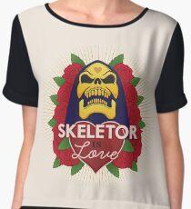Skeletor is Love Women's Chiffon Top