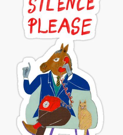 Silence Please Sticker