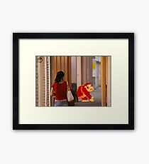 Donkey Kong Spotted Framed Print