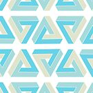 Blue and Tan Impossible Triangle by JaymeArt