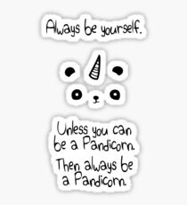 Be A Pandicorn Be Yourself Sticker