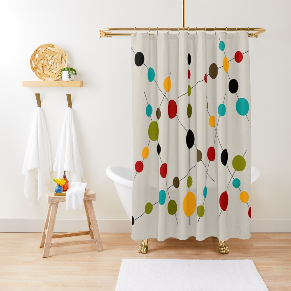 Sticks and Bubbles Shower Curtain