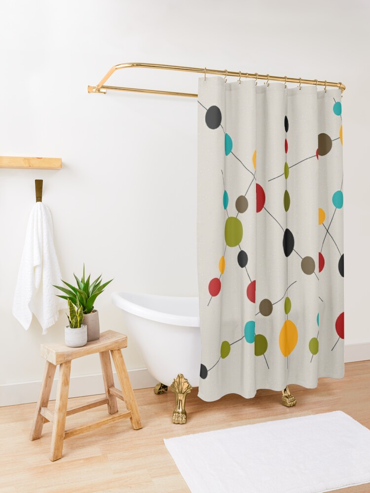 Alternate view of Sticks and Bubbles Shower Curtain