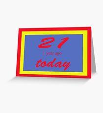 21 again Birthday 22nd Greeting Card