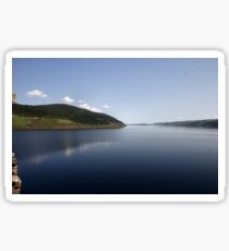 Loch Ness reflections Sticker