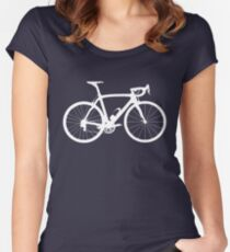 Bike White (Big) Women's Fitted Scoop T-Shirt