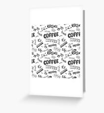 Seamless doodle coffee pattern Greeting Card