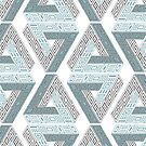 Blue and Gray Impossible Triangle by JaymeArt