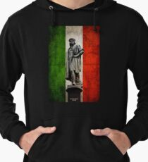 Christopher Columbus Statue with Italian Flag Lightweight Hoodie