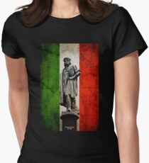 Christopher Columbus Statue with Italian Flag T-Shirt