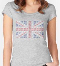 Bike Flag United Kingdom (Small) Women's Fitted Scoop T-Shirt