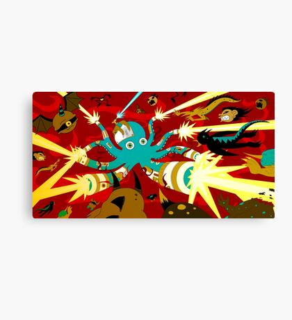 Cyborg Octopus Canvas Print