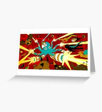 Cyborg Octopus Greeting Card