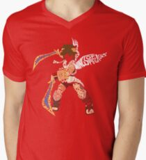 The Fight Is On!   Pit Typography Men's V-Neck T-Shirt
