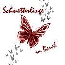 Schmetterlinge im Bauch (graues Design) von Niemandsland