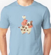 Happy Cow, Pig, and Chicken Unisex T-Shirt