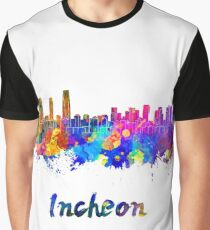 Incheon skyline in watercolor Graphic T-Shirt