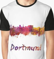 Dortmund skyline in watercolor Graphic T-Shirt