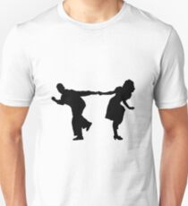 Swing dancers2 Slim Fit T-Shirt
