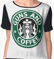 guns and coffee RC Women's Chiffon Top