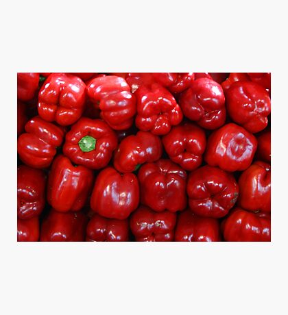Sweet Red Peppers Photographic Print