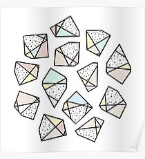 Polygonal stones and gemstones Poster