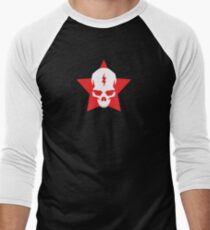 SkullStar BlackRed Logo Men's Baseball ¾ T-Shirt