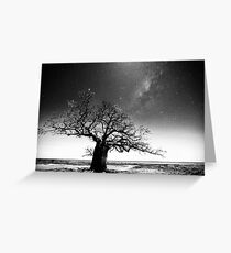 Dinner tree constellations Greeting Card