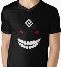 Schwarzer Geist aus schwarzer Wüste T-Shirt mit V-Ausschnitt