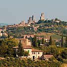 Hill town of of San Gimignano, Tuscany, Italy by Petr Svarc