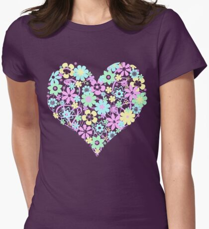 Flowers from the Heart (pastel) T-Shirt