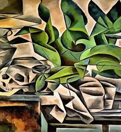 Still life with Skull After Bohumil Kubista Sticker
