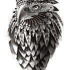 Ornate Tribal Shaman Eagle Print by SFDesignstudio
