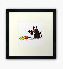 Banksy_rat Framed Print