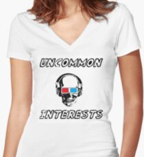Uncommon Interests Logo 3 Women's Fitted V-Neck T-Shirt