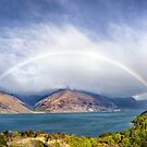 Rainbow & Sunshine - Lake Wakatipu, NZ by SeeOneSoul