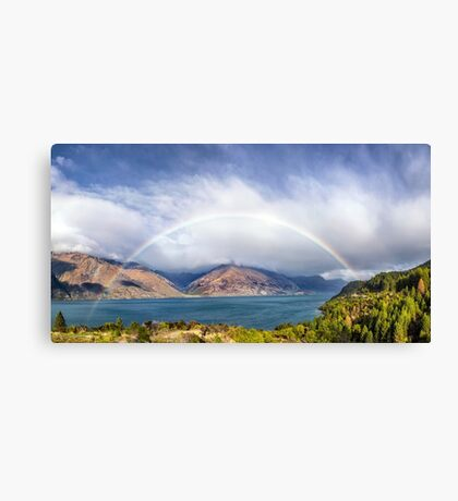 Rainbow & Sunshine - Lake Wakatipu, NZ Canvas Print